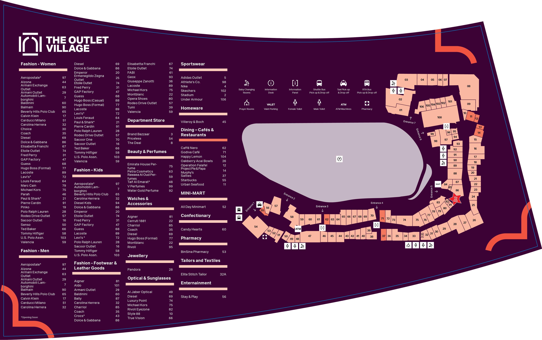 säästää yksityiskohtainen ilme Tarjouskoodi Store Locator - Find Shops | The Outlet Village, Dubai, UAE